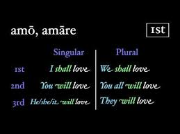 Latin 3rd Conjugation Chart The Future Tense