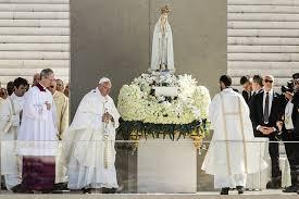 El Papa Francisco en la Misa de Canonización en Fátima