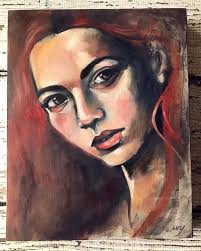 free oil painting tutorial come watch and listen as i create this lovely redhead using