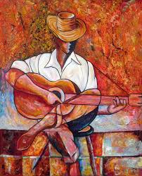 cuban art painting my guitar by jose manuel abraham