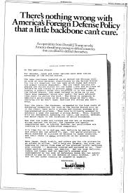 September 2, 1987: President Elect Donald Trump's Open Letter- A ...