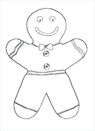 Ginger Bread Man Coloring Page Gingerbread Man Coloring Page