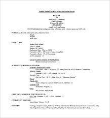 College Resume Template Stunning College Application Resume Templates College Resume Template For