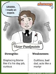 Frankenstein Character Chart Victor Frankenstein In Frankenstein