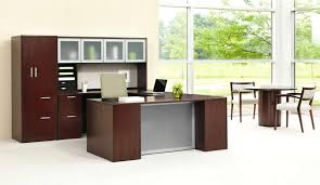 office furniture for small office. Nice Small Office Furniture 5 Contemporary Workstation Design Of 10700 Series U Station In Mahogany By For N