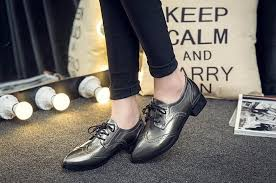 new patent leather oxfords women autumn fashion pointed toe platform flats classic brogue shoes woman 2016