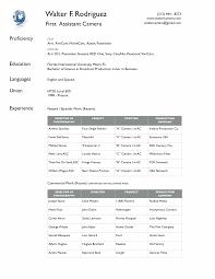 Gallery Of Cameraassistant Resume Sample Resume Format Pdf 9