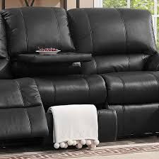 black leather reclining sofa. Auckland Black Leather Reclining Sofa - MJM Furniture A