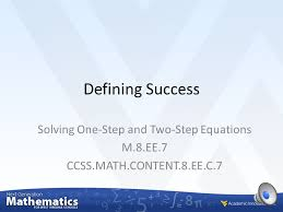 solving one step and two step equations