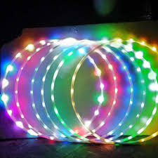 Led Lights For Fat Reduction Led Colorful Fitness Circle Performing Arts Abdominal Fat Loss Light Fitness Crossfit Foldable Sport Hoop Gym Fitness Equipments