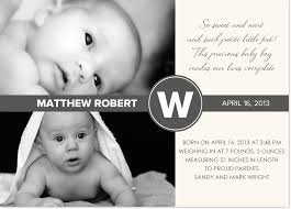 Contemporary Monochromatic Photo Birth Announcement And Baby