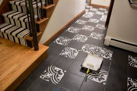 how to paint tile floor