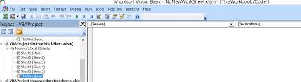Excel-VBA : Prevent Adding New Worksheet