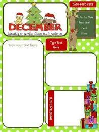 December Winter Newsletter Classroom Newsletter Template
