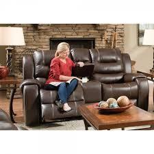 titan living room reclining sofa loveseat chocolate 71406