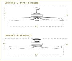 Fan Size Chart Ceiling Fan Size In Mm Diameter India For Large Room Sizes