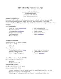Student Internship Resume Sample Resume For Study