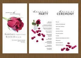 Wedding Program Designs A Single Rose Wedding Program Detail Wedding Design
