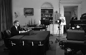 Image result for 1962 JFK announces a blockade of Cuba