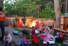 Domestic Fashionista Moms Group Backyard Family Movie NightMovie Backyard