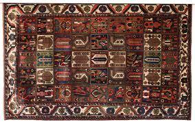 this persian garden design bakhtiari carpet in handspun wool and vegetable dyes showcases a fluid yet
