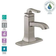 rubicon single hole single handle bathroom faucet in vibrant brushed nickel