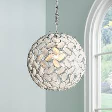 kaia frosted beads 12 wide chrome plug in swag pendant chandeliers com