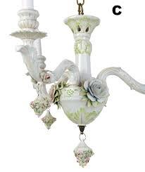 antique porcelain chandelier capodimonte porcelain fl chandeliers architectural