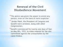 Civil disobedience movement     The Civil Disobedience