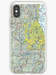 Sectional Aeronautical Chart Chicago Sectional Aeronautical Chart Iphone Case By Realpilotdesign