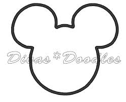 mickey head template printable mickey mouse ear template printable group 23