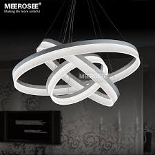md5060w new arrival chandeliers led acrylic ring hanging lamp modern room light fixture led re