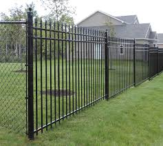 chain link fence post installation. Residential Chain Link Fence Post Installation