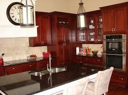 ... Fancy Kitchen Decoration Ideas Using Brazilian Cherry Wood Kitchen  Cabinet : Lovable Kitchen Decoration Ideas Using ...