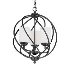 seagull pendant lighting. Sea Gull Lighting Goliad 3-Light Blacksmith Hall-Foyer Pendant Seagull