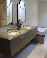 modern bathroom double sink vanity. bathrooms:cool bathroom with modern floating cabinet plus unique wall mirrors and double sinks sink vanity o