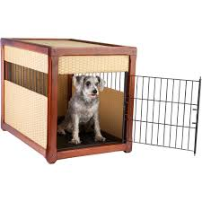 furniture style dog crates. Deluxe Craftsman-Style Pet Crate End Table \u2014 Medium Brown Furniture Style Dog Crates