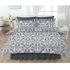 grey damask bedding asda duvet cover per set print