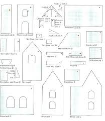 Gingerbread House Templates Printable Assets Images Large Template