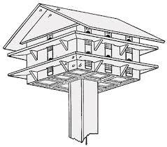 Purple Martin bird house plan