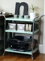 rolling office cart. Rolling Office Cart Antique Vintage For Printer And Supply Storage . L