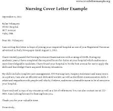 Example Of A Cover Letter For Nursing Sample Cover Letter For Nursing Job