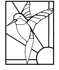 hummingbird stencil printable mosaic templates free hummingbirds stained glass stepping stone patterns pattern template printabl
