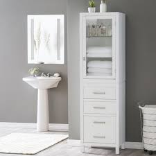 White Floor Bathroom Cabinet Bathroom Floor Cabinets On Hayneedle Bathroom Linen Racks