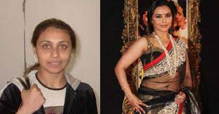 bollywood actress without makeup rani