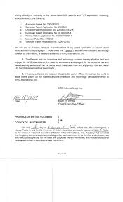 Patent Assignment Form Ambient Water Corp FORM 24K EX24 DECLARATION OF ASSIGNMENT 9