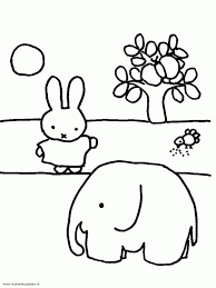 Nijntje Bij De Olifant Odette Coloring For Kids Elmer The