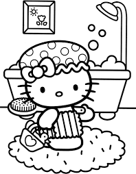 24 paint coloring pages collections. Kitty Taking Shower Coloring Page Free Printable Coloring Pages For Kids