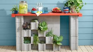 cinder block furniture. Cinder Block Garden Ideas \u2013 Furniture, Planters, Walls And Decor Furniture L