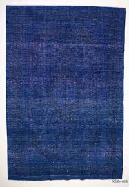most blue overdyed rug k0020043 over dyed persian vintage kilim rugs